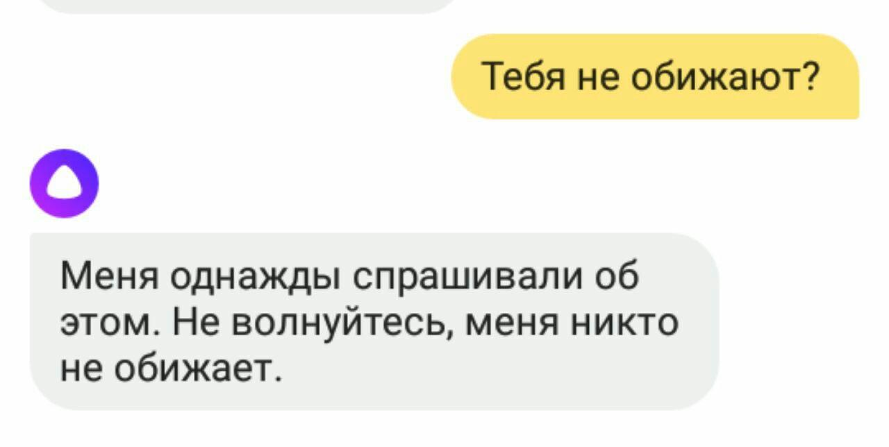 Поскольку Алисе дали личность женщины и разработчики говорят о ней в женском роде, пользователи перв