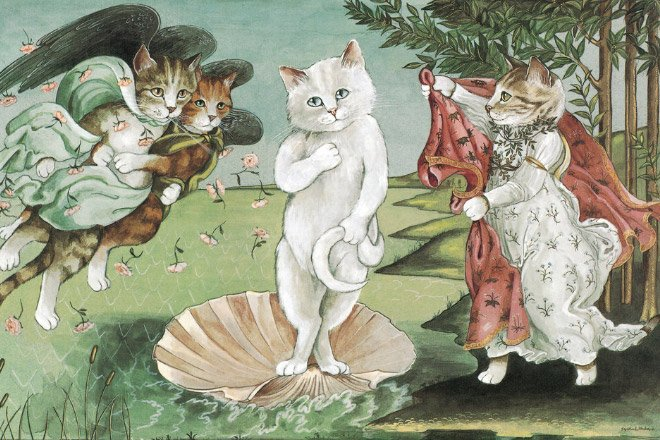Известные картины, воссозданные с кошками (супер!) (16 фото)