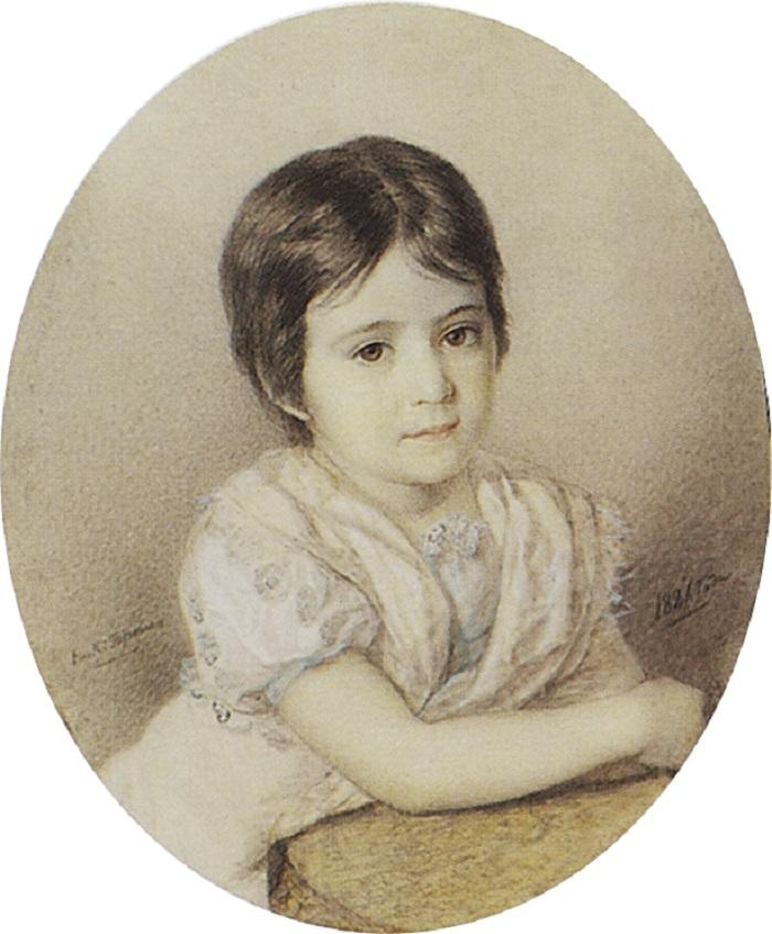 Портрет М.П.Кикиной. 1821 Государственная Третьяковская галерея, Москва.