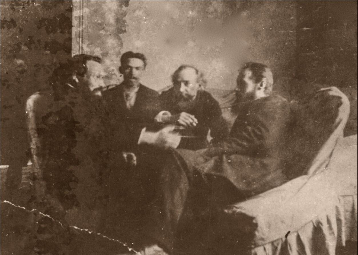 Головкин в мастерской Ф. Бурова