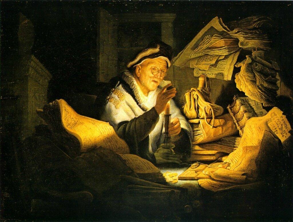 8.Скупец (1627) (32 × 42.5) (Берлин, Гос.музей).jpg