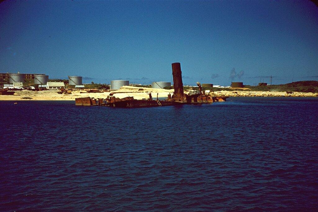 Sunken Ship, Naha, Okinawa.
