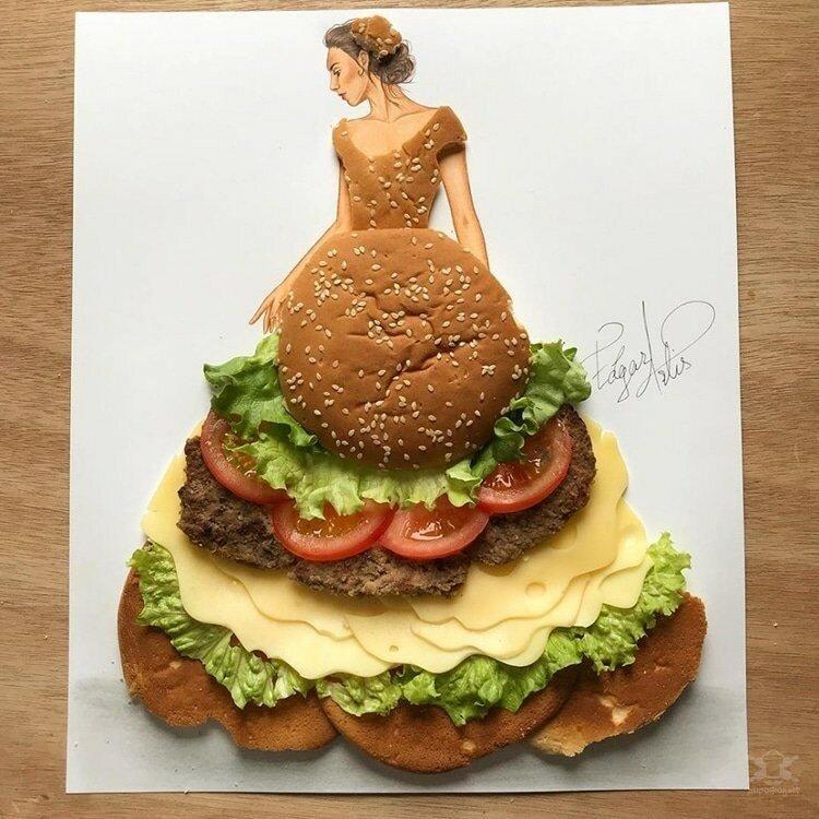 0 17e85e 1a863398 XL - Эскизы платьев в сочетании с едой и др. предметами