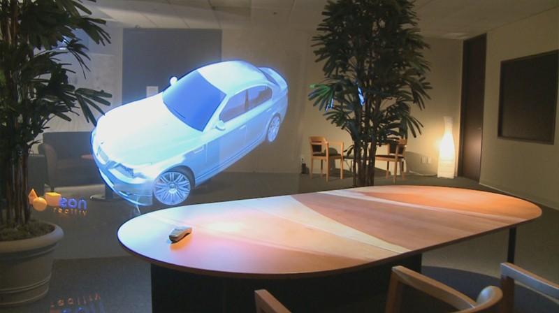 2. Сегодня 3D-голографию вполне можно использовать для рекламы, но в ограниченном пространстве Возмо