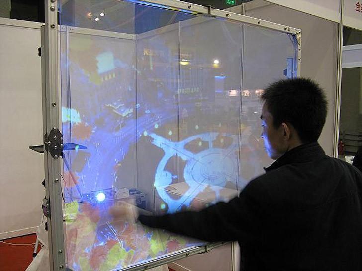 4. Голографические экраны вполне в ходу уже сегодня – в основном на выставках Вполне возможно, их вы