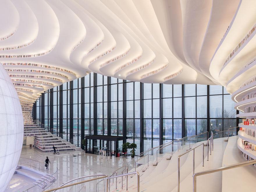 В Китае открыли инопланетную библиотеку, вмещающую 1,2 миллиона книг (9 фото)