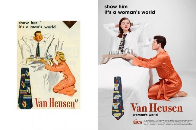 Фотограф переснял сексистские рекламные плакаты 50-х, чтобы показать, как изменилась жизнь (9 фото)