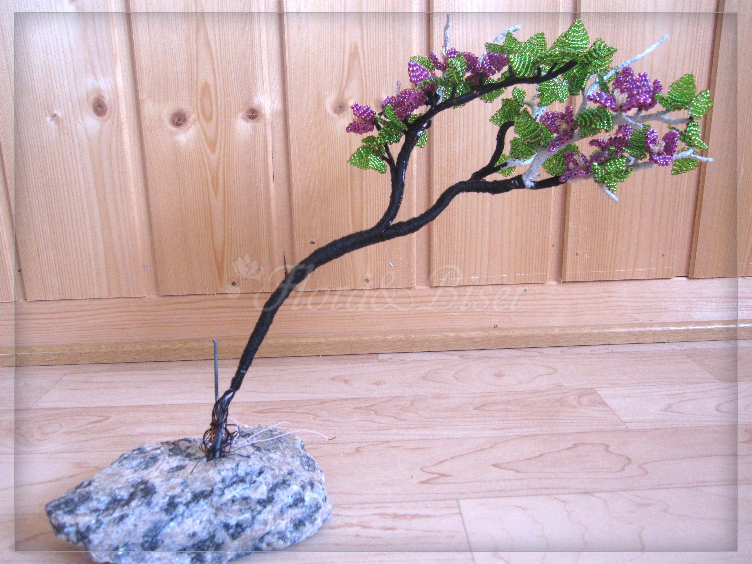 сборка бисерного дерева