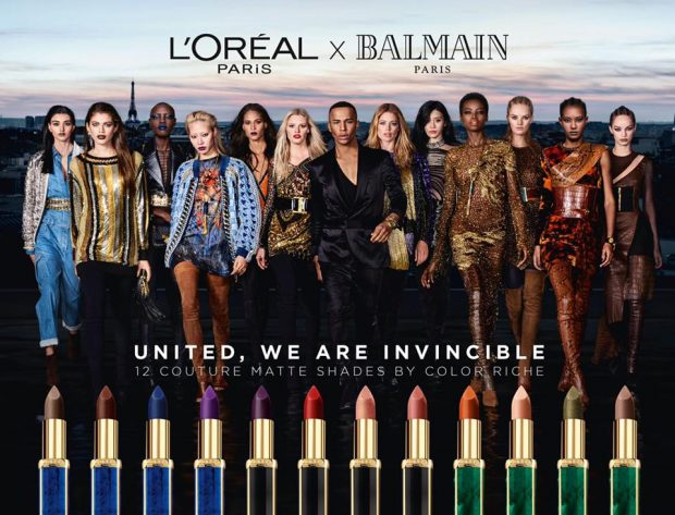 SUPERMODELS UNITE FOR L'OREAL PARIS X BALMAIN Capsule Collection (4 pics)