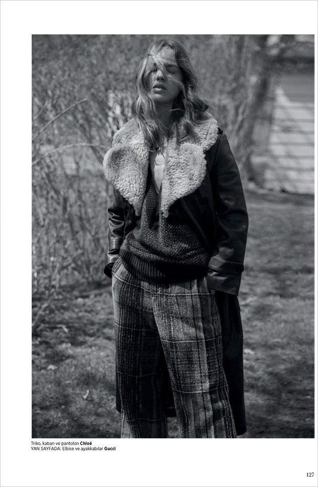 Julia Jamin Stars in Harper's Bazaar Turkey August 2017 Cover Story