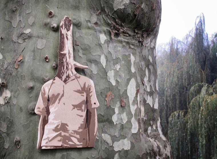 WoodShapes - Wooden street art by TUCO