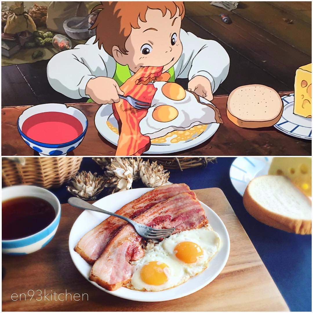 Yummy Japanese Animation Meals In Real Life (15 pics)
