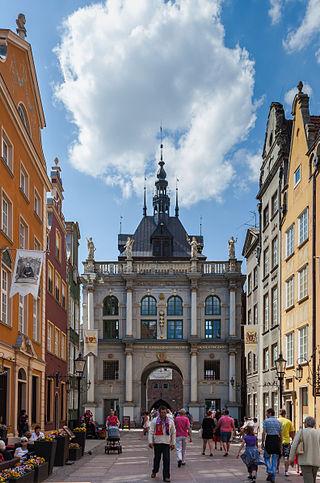 Гданьск,  Золотые  ворота.