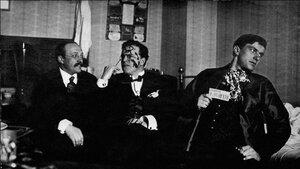 1914. Андрей Шемшурин, Давид Бурлюк, Владимир Маяковский. Москва