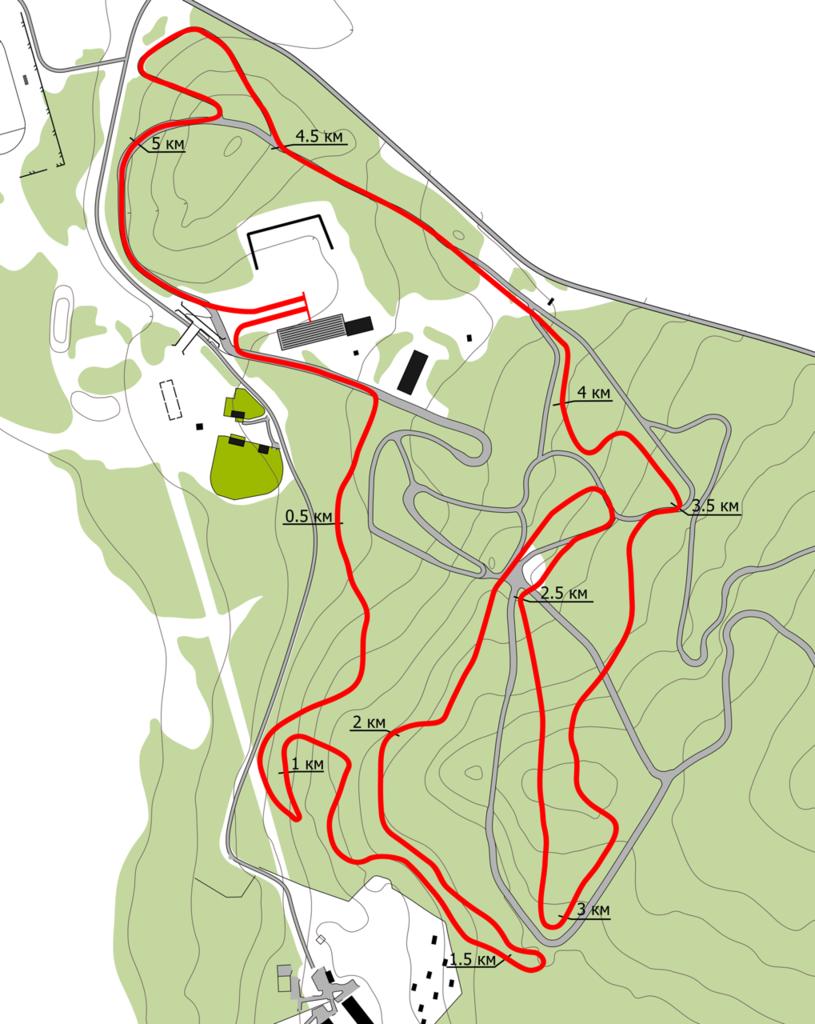 Карта-схема лыжероллерной трассы на стадионе им. С. Ишмуратовой