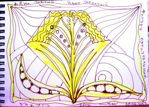 желтый пятиугольник