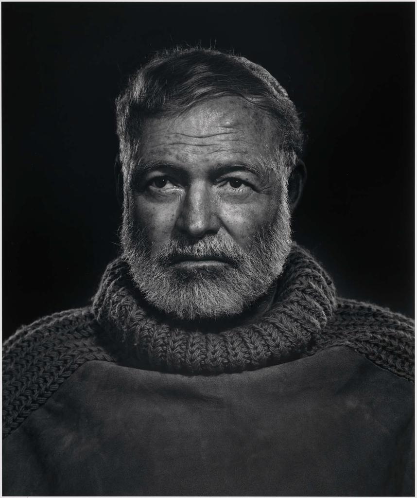 Эрнест Хемингуэй1957 Юсуф Карш Канадский фотограф 1908-2002