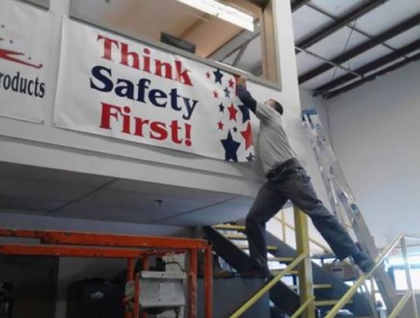 «В первую очередь думай о безопасности».