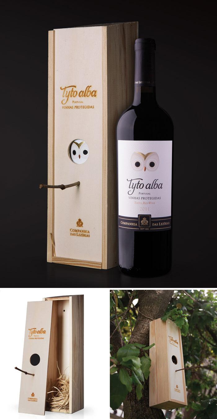 Из деревянной коробки для вина можно сделать скворечник.