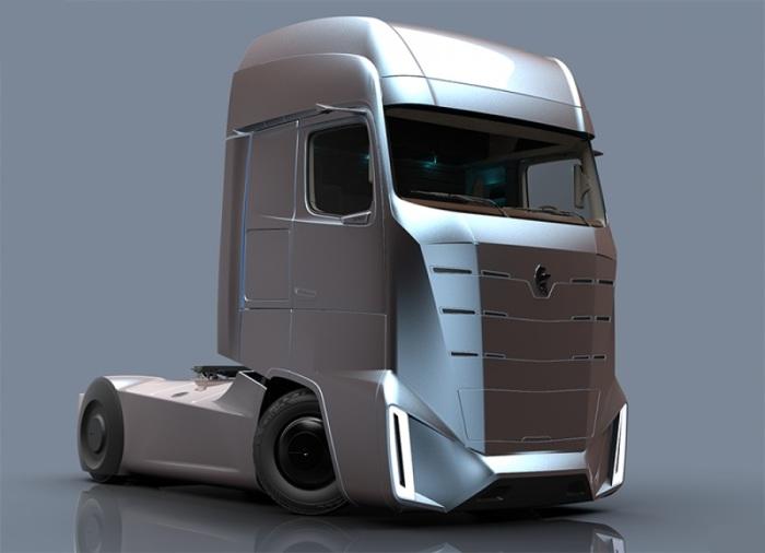 Монументальный дизайн кабины нового дальнобойного КАМАZ E-Truck. Студенту Московского Политеха Артем
