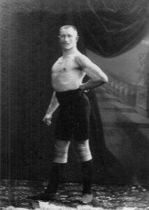 Портрет борца, участника чемпионата Сондера