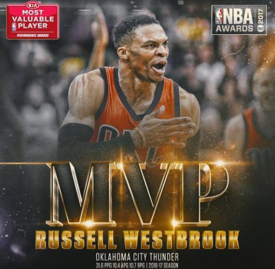 Рассел Уэстбрук признан MVP сезона