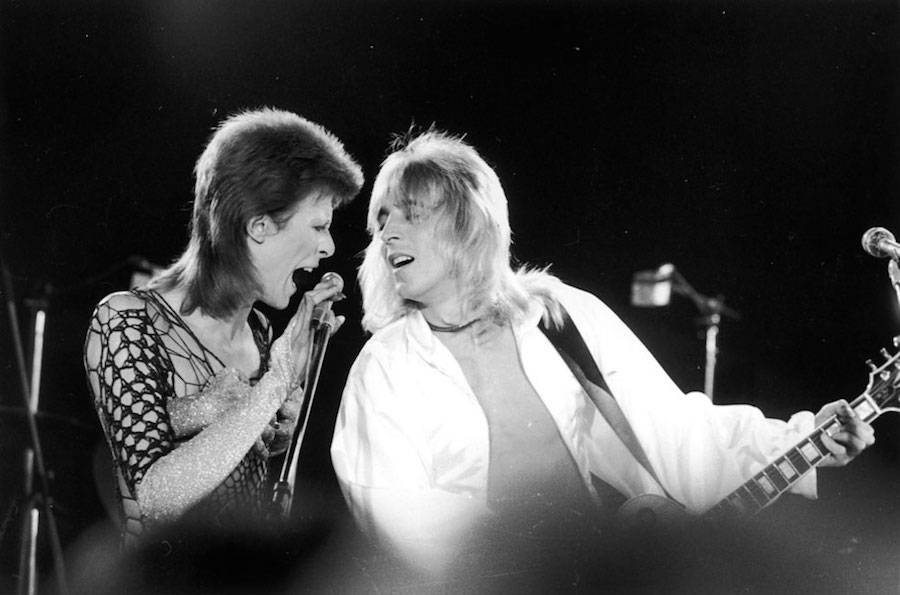 October 21, 1973, with the guitarist Mick Ronson