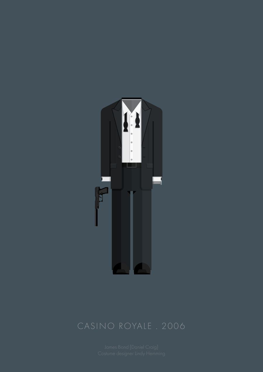 Illustrations of Famous Movie Characters Costumes