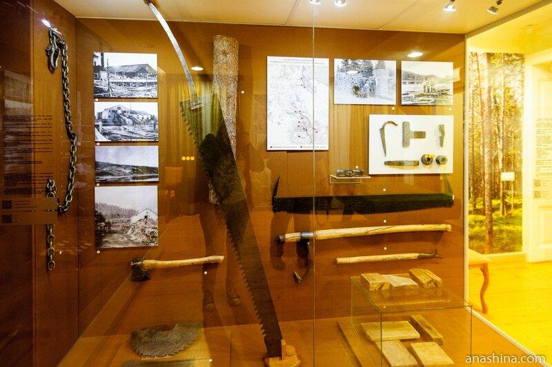 Экспозиция зала «Горняки и лесорубы», Национальный музей Республики Карелия, Петрозаводск