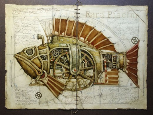 Steampunk Illustrations and Computer-generated Imagery (54 pics)