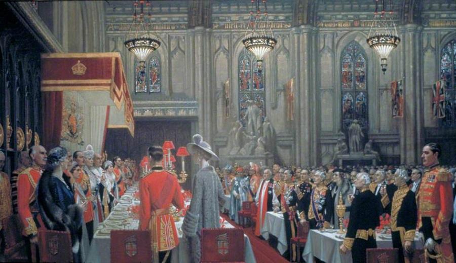 Коронационный обед в Гильдхолле, Лондон, 19 мая 1937 года, Тост королю.jpg