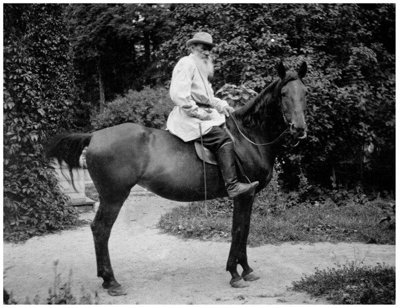 Лев Толстой с родными и близкими