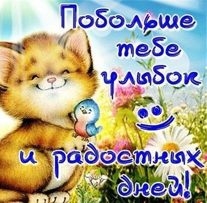Побольше тебе улыбок и радостных дней!День улыбки!