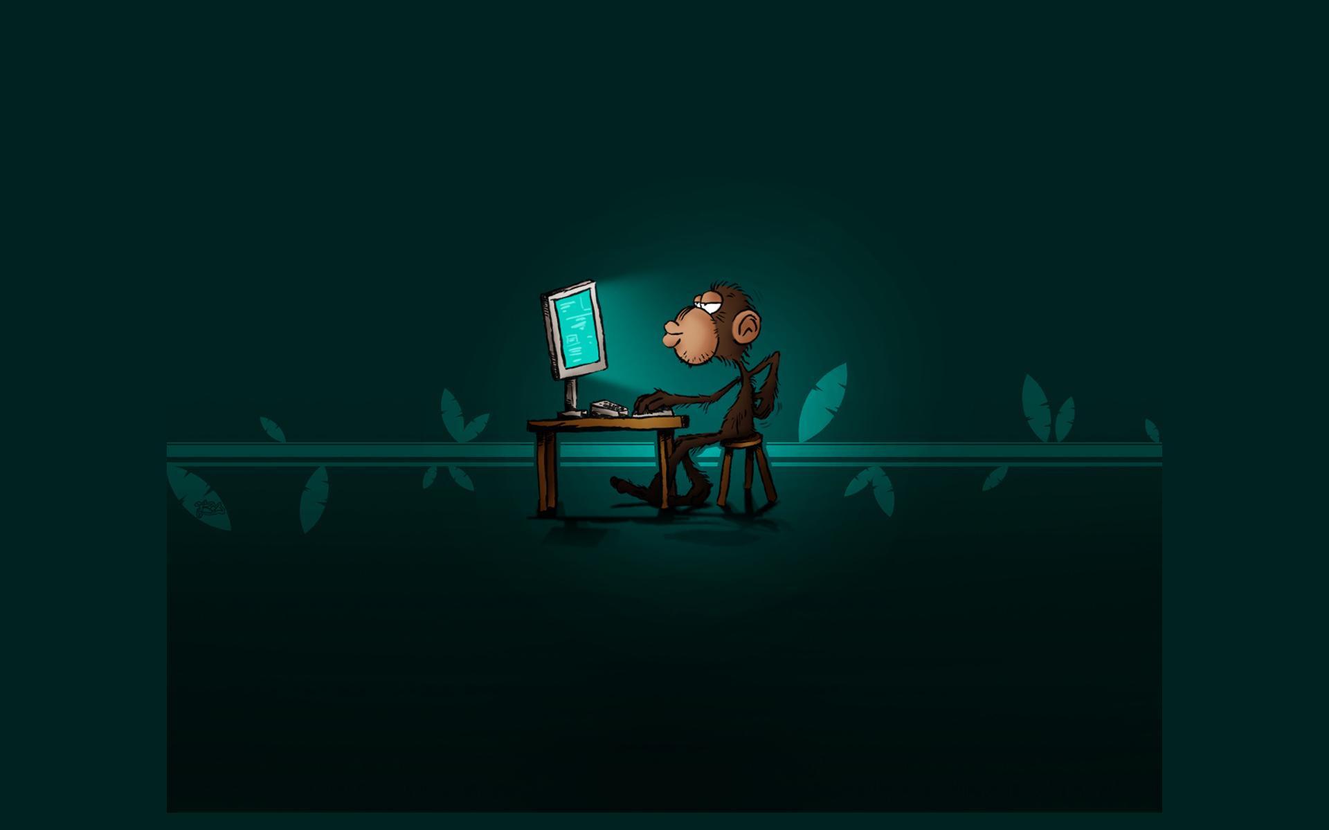 С днем программиста! Мы произошли от обезьяны, она может превзойти нас
