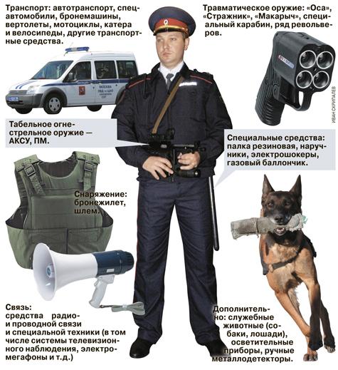 Чем может быть вооружен сотрудник патрульно-постовой службы