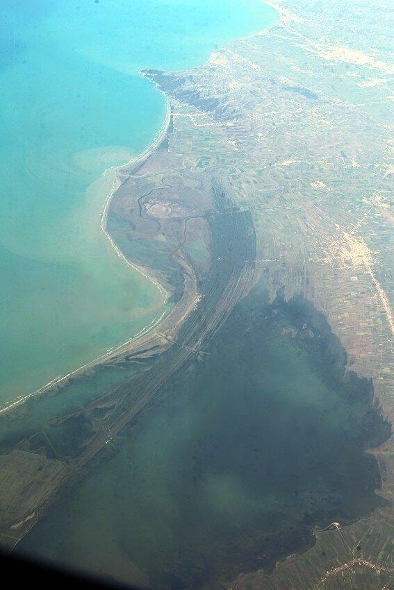 Лагуна Караваста, вид с самолёта