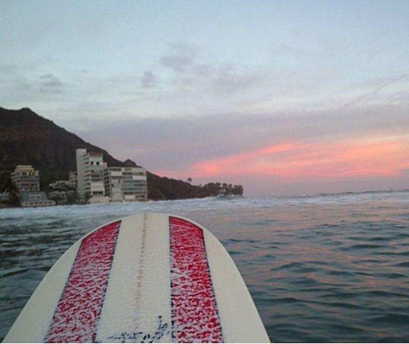 14. Пейзаж, снятый с доски для серфинга пользователем Glass по имени Крис.