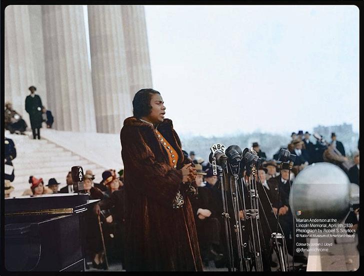 Мариан Андерсон у Мемориала Линкольна, 1939 год.