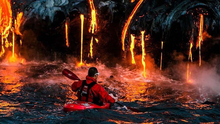 3. По лаве на каяках — Гавайи Вулкан Килауэа появился 600 000 лет назад. Его последнее извержение на