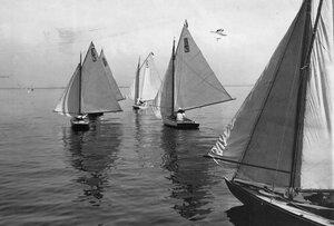 Яхта - участница гонок по Финскому заливу