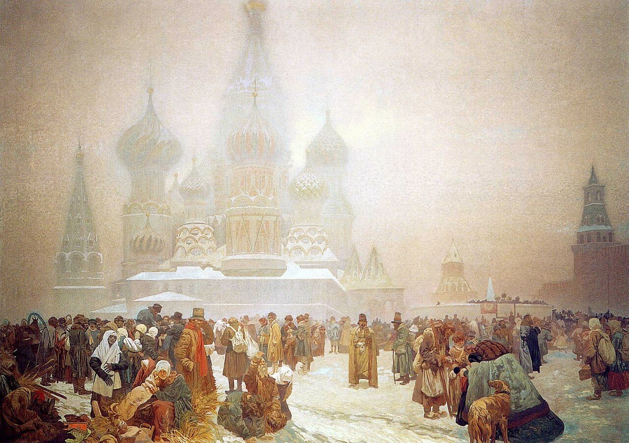 1914 The Abolition of Serfdom in Russia - Work in Freedom is the Foundation of a State tempera on canvas 610 x 810 cm.jpg