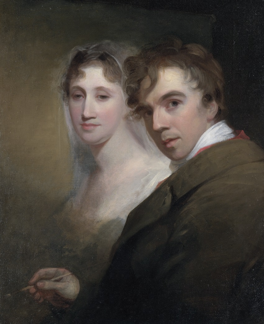 Thomas Sully painting his wife, Sarah Annis Sully