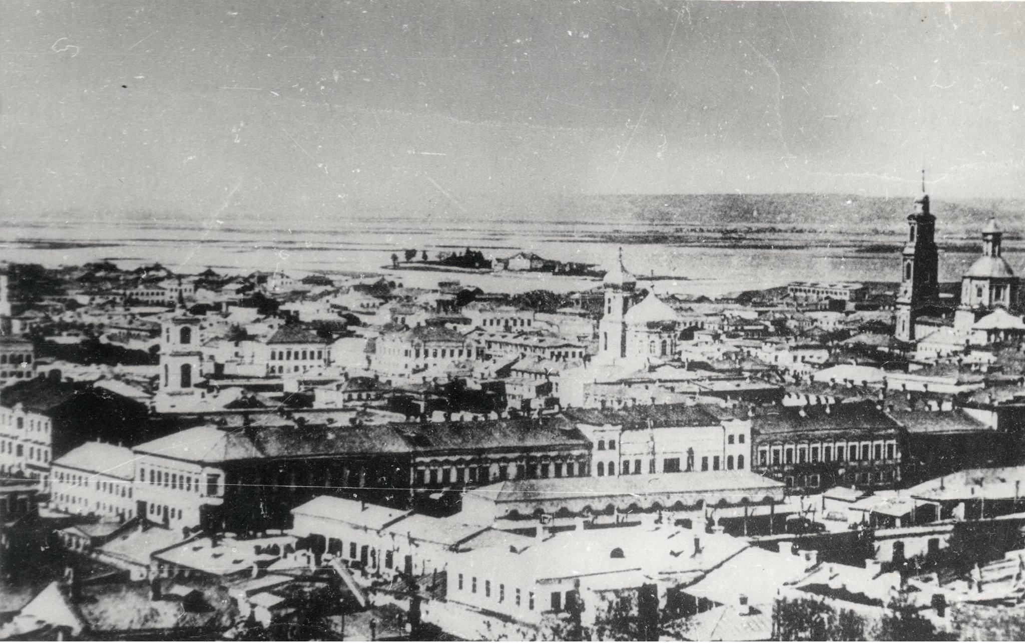 1870. Вид на город с каланчи 1-й полицейской части