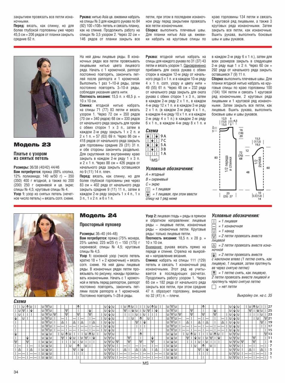 Журнал Сабрина вязание спицами 2017 со схемами