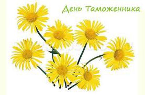 День таможенника Российской Федерации. Букет цветов
