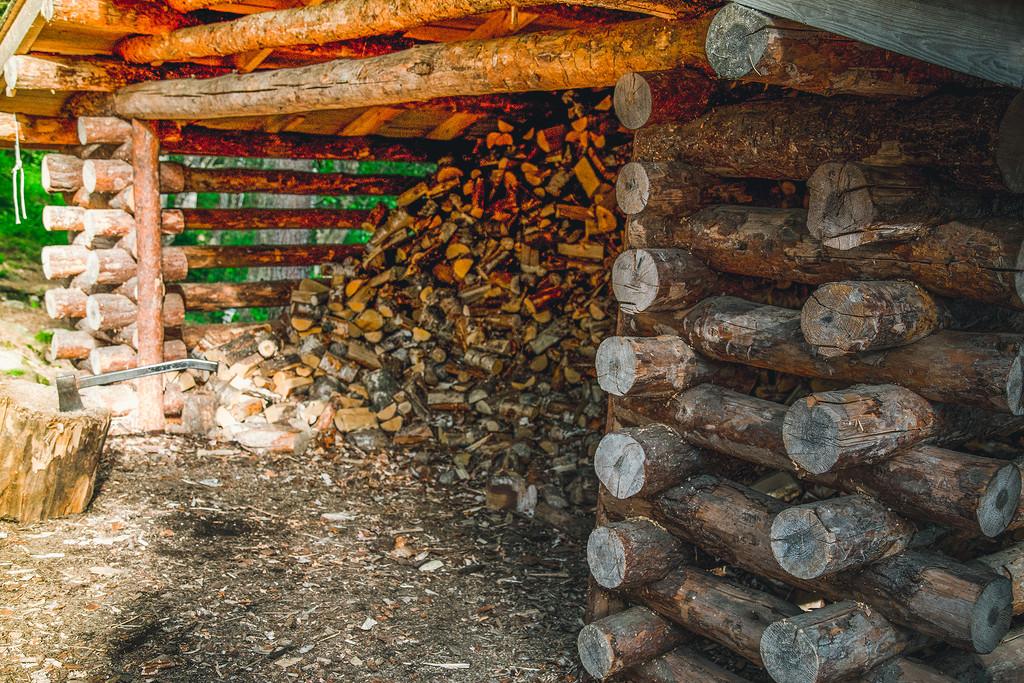 Да и возникнет ли иное желание, если в оборудованных местах есть дрова и топор? Во многих местах вст