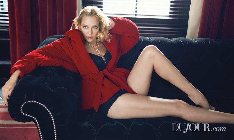 Ума Турман в DuJour Magazine