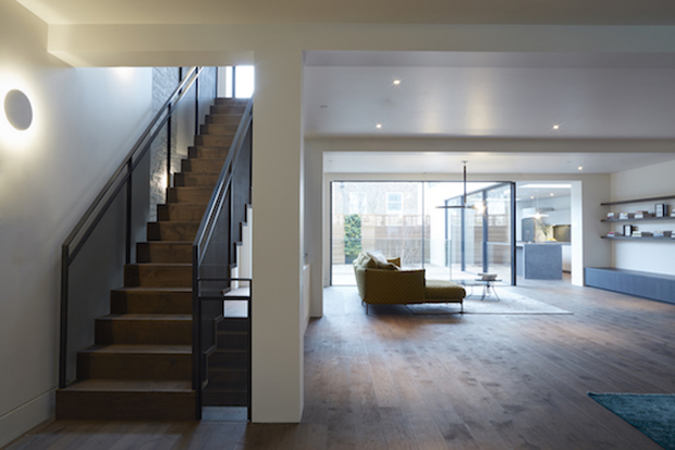 London-based architectects, Michaelis Boyd  fully refurbished this stunning three-storey house