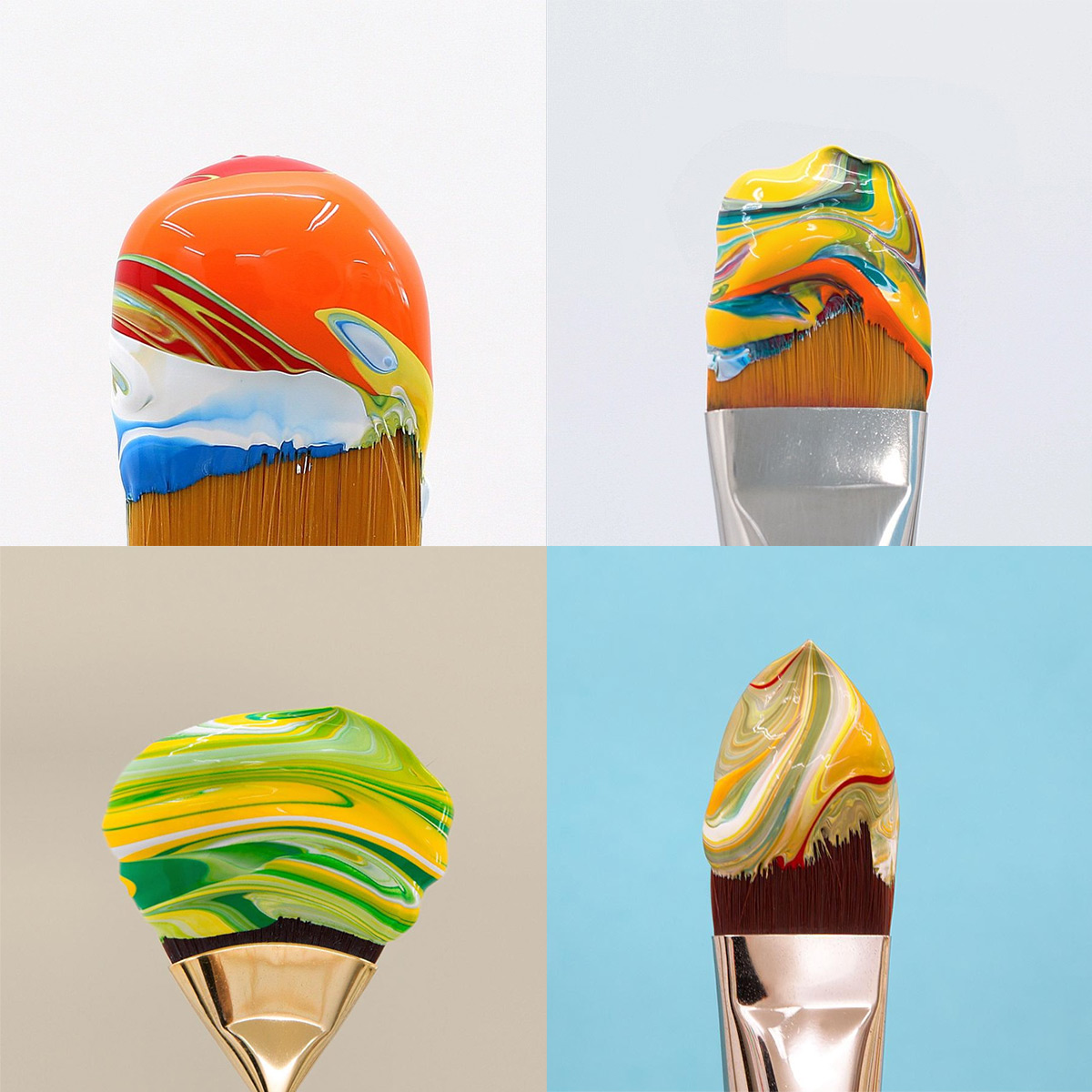 Gloopy Ice Cream Paint Brushes Photographed by Jose Lourenco