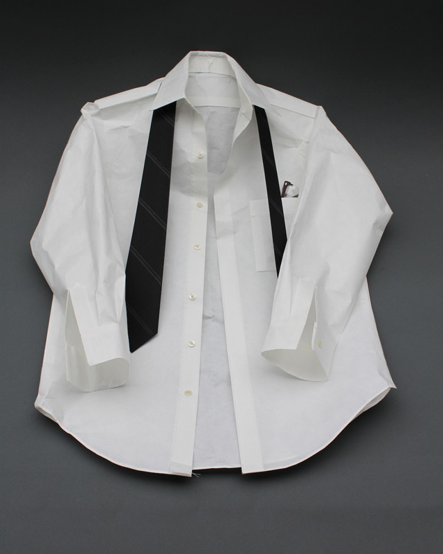 Shirt & Tie / 2010 / Mulberry and various other papers / 23 x 30 x 4 in.